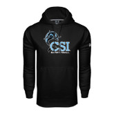 College of Staton Island Under Armour Black Performance Sweats Team Hoodie-Basketball