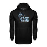 College of Staton Island Under Armour Black Performance Sweats Team Hoodie-Cheerleading