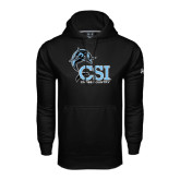 College of Staton Island Under Armour Black Performance Sweats Team Hoodie-Cross Country
