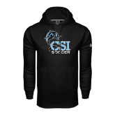 Under Armour Black Performance Sweats Team Hood-Soccer