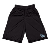 College of Staton Island Russell Performance Black 10 Inch Short w/Pockets-Official Logo