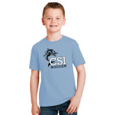 Youth Light Blue T Shirt-Soccer