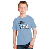 Youth Light Blue T Shirt-Track and Field