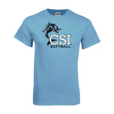 Light Blue T-Shirt-Softball