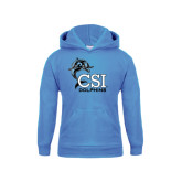 College of Staton Island Youth Light Blue Fleece Hoodie-Official Logo