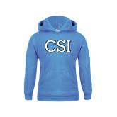 College of Staton Island Youth Light Blue Fleece Hoodie-CSI
