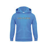 College of Staton Island Youth Light Blue Fleece Hoodie-Dolphins