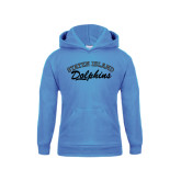 College of Staton Island Youth Light Blue Fleece Hoodie-Staten Island Dolphins