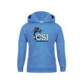 College of Staton Island Youth Light Blue Fleece Hoodie-Baseball