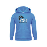 College of Staton Island Youth Light Blue Fleece Hoodie-Softball