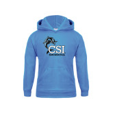 College of Staton Island Youth Light Blue Fleece Hoodie-Swimming
