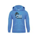 College of Staton Island Youth Light Blue Fleece Hoodie-Tennis