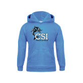 Youth Light Blue Fleece Hood-Track and Field