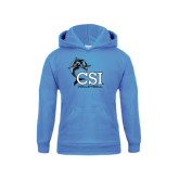 College of Staton Island Youth Light Blue Fleece Hoodie-Volleyball
