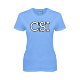 Ladies Sky Blue T-Shirt-CSI