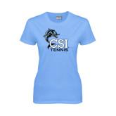 College of Staton Island Ladies Sky Blue T Shirt-Tennis