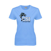 Ladies Sky Blue T-Shirt-Athletics