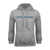 College of Staton Island Grey Fleece Hoodie-Dolphins