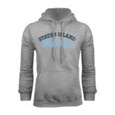 College of Staton Island Grey Fleece Hoodie-Staten Island Dolphins