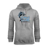 College of Staton Island Grey Fleece Hoodie-Baseball