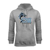 College of Staton Island Grey Fleece Hoodie-Cheerleading
