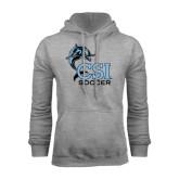 College of Staton Island Grey Fleece Hoodie-Soccer