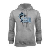 Grey Fleece Hood-Softball