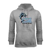 College of Staton Island Grey Fleece Hoodie-Swimming