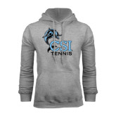 College of Staton Island Grey Fleece Hoodie-Tennis