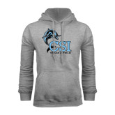 College of Staton Island Grey Fleece Hoodie-Track and Field