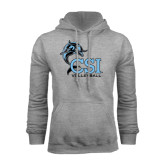 College of Staton Island Grey Fleece Hoodie-Volleyball