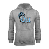 Grey Fleece Hood-Athletics