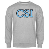 College of Staton Island Grey Fleece Crew-CSI