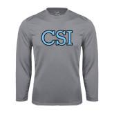 College of Staton Island Performance Steel Longsleeve Shirt-CSI