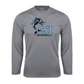 College of Staton Island Performance Steel Longsleeve Shirt-Baseball