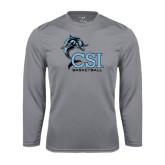College of Staton Island Performance Steel Longsleeve Shirt-Basketball