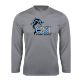 College of Staton Island Performance Steel Longsleeve Shirt-Cheerleading