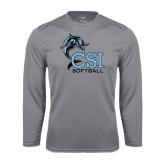 College of Staton Island Performance Steel Longsleeve Shirt-Softball