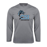 College of Staton Island Performance Steel Longsleeve Shirt-Swimming
