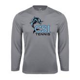 College of Staton Island Performance Steel Longsleeve Shirt-Tennis