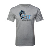 Sport Grey T Shirt-Basketball