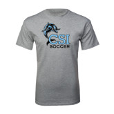 Sport Grey T Shirt-Soccer