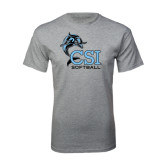 Sport Grey T Shirt-Softball