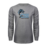 Grey Long Sleeve T Shirt-Cheerleading