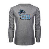 Grey Long Sleeve T Shirt-Volleyball