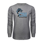 Grey Long Sleeve T Shirt-Athletics