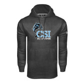 College of Staton Island Under Armour Carbon Performance Sweats Team Hoodie-Official Logo