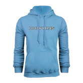 College of Staton Island Light Blue Fleece Hoodie-Dolphins