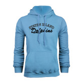 College of Staton Island Light Blue Fleece Hoodie-Staten Island Dolphins
