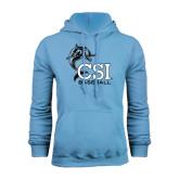 College of Staton Island Light Blue Fleece Hoodie-Baseball